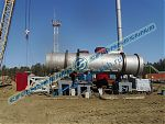 Rotary dryer setup